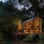 Carlsberg Cabin at night